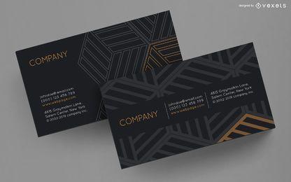Diseño de cubos a rayas de tarjetas de visita