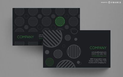 Diseño de círculos rayados de tarjeta de visita