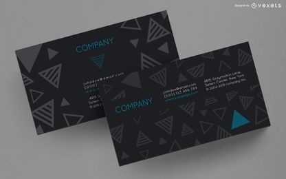 Business card striped triangles design
