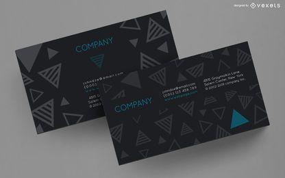Diseño de triángulos rayados de tarjeta de visita