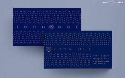 Diseño de tarjeta de visita en zigzag