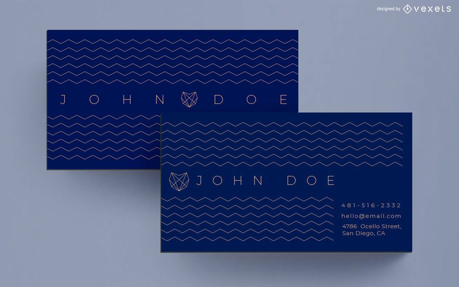 Business card zigzag design