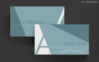 Cartão de visita elegante desenho geométrico