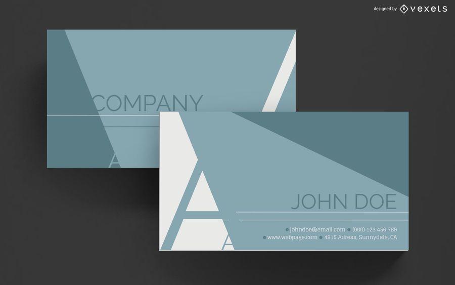 Business card elegant geometric design