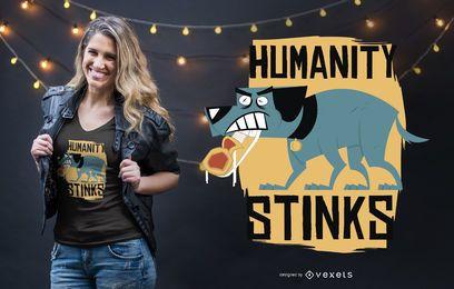 La humanidad apesta diseño de camiseta
