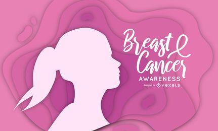 Papercut de conscientização do câncer de mama
