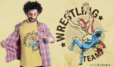Diseño de camiseta del equipo de lucha libre