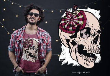 Schädeldartscheibe-T-Shirt Entwurf