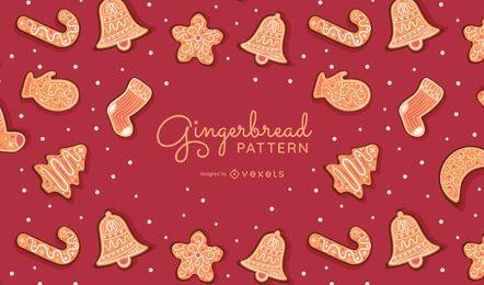 Diseño de patrón de galletas de jengibre