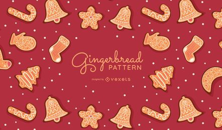 Gingerbread cookies pattern design