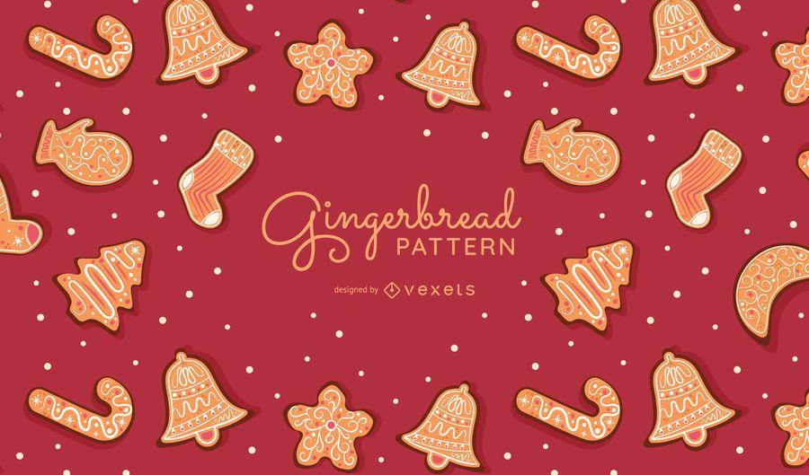 Projeto de padrão de biscoitos de gengibre