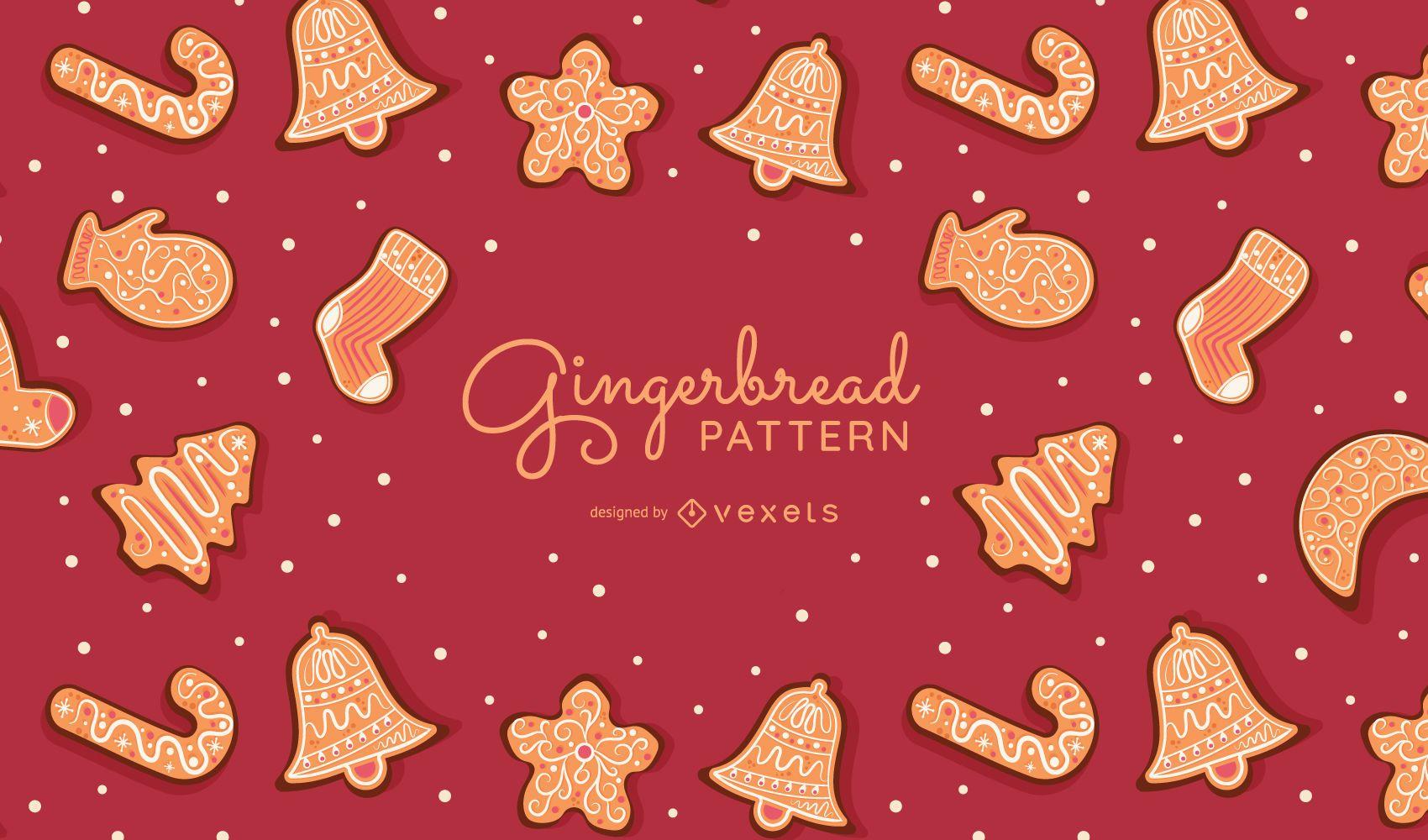 Gingerbread cookies pattern design