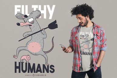 Filthy humans t-shirt design