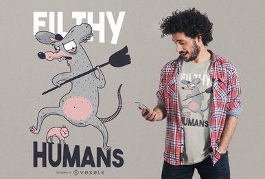 Schmutziger Menschent-shirt Entwurf