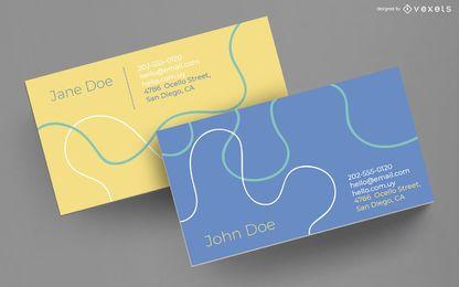Diseño de líneas abstractas tarjetas de visita