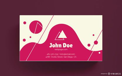 Abstract wavy business card