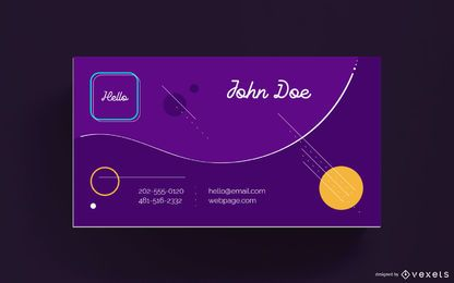 Business card abstract shapes design