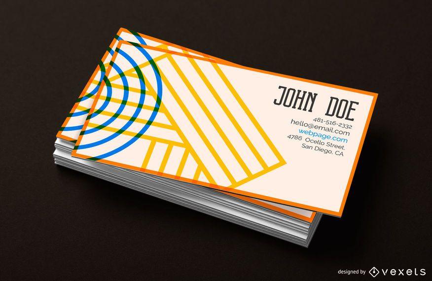 Plantilla de tarjeta de visita - diseño geométrico