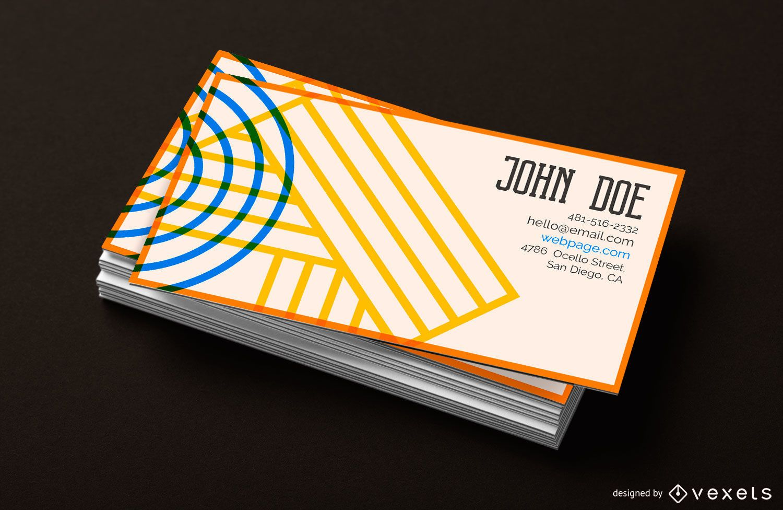 Geometric Design Business Card Template