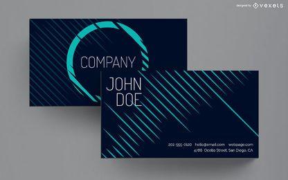 Design de linhas de cartão de visita