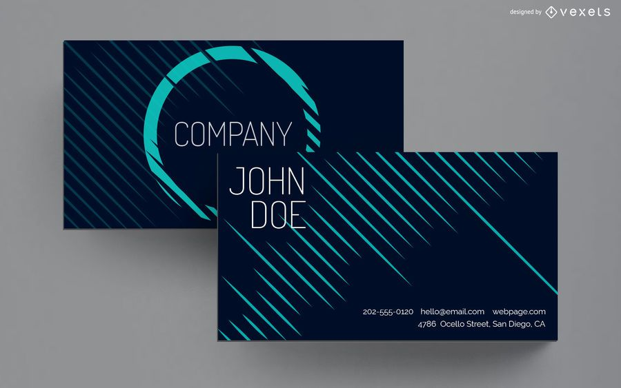 Business card lines design