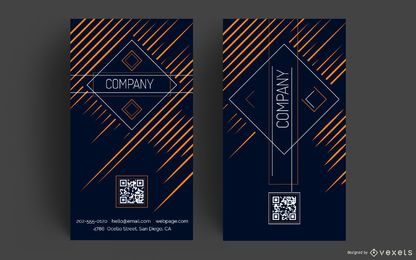 Design vertical de cartão de visita