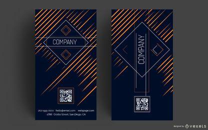 Diseño vertical de tarjetas de visita