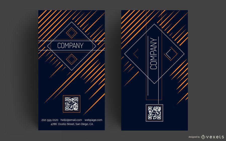 Diseño vertical de tarjeta de visita