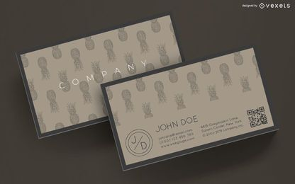 Business card pineapples design