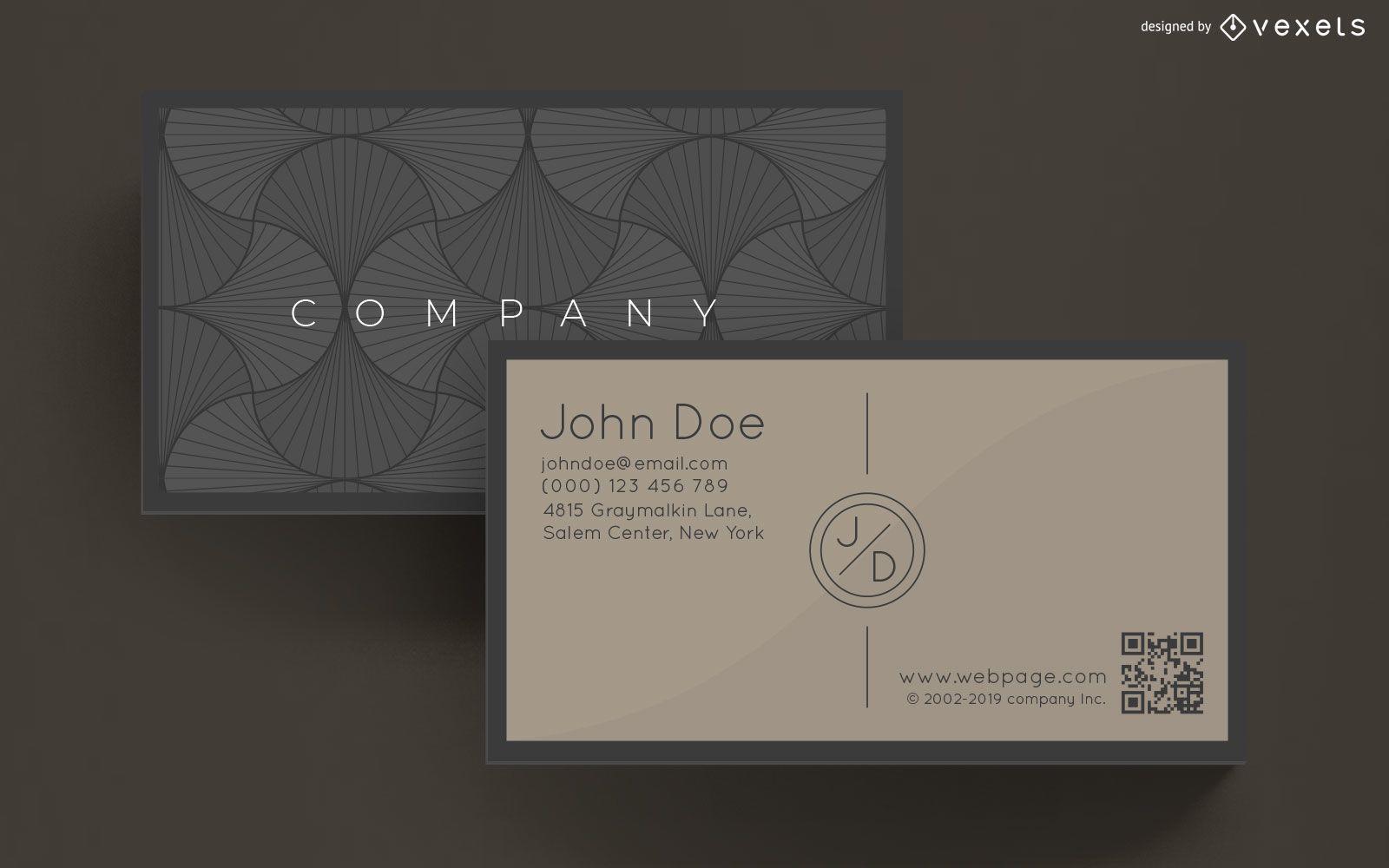 Diseño de tarjeta de visita elegante
