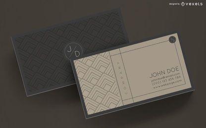 Elegante diseño de tarjeta de visita