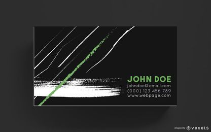 Business card brush strokes design