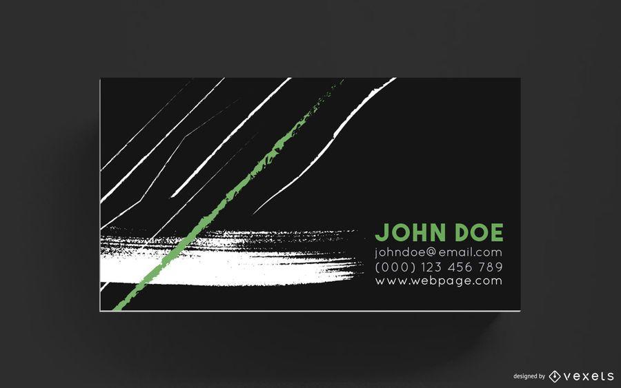 Diseño de trazos de pincel de tarjeta de visita