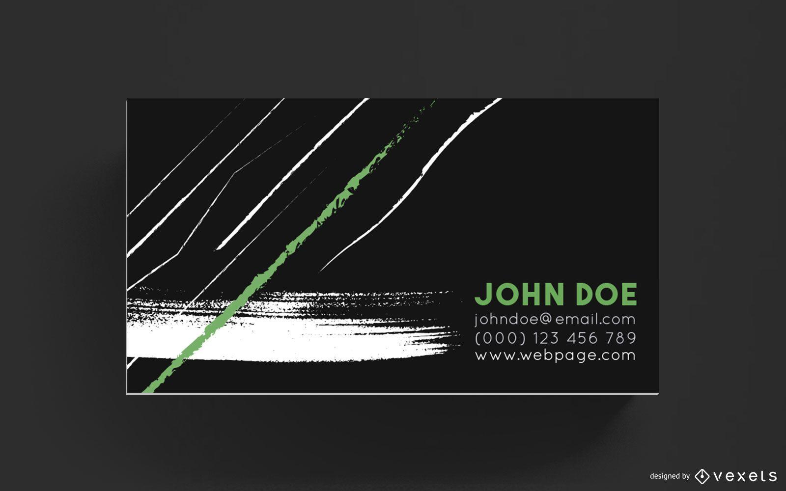 Design de pinceladas de cartão de visita