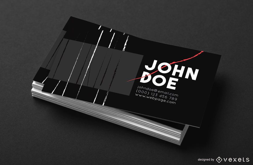 Business card paint brush strokes