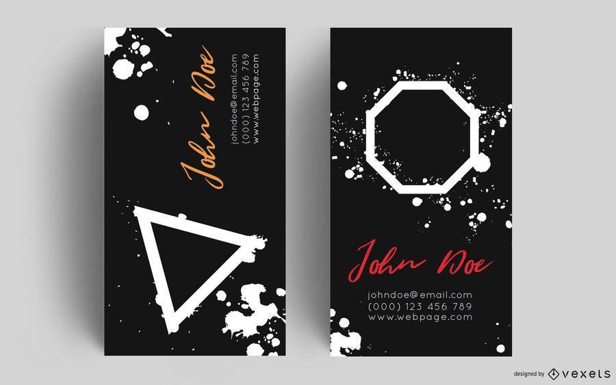 Diseño de salpicaduras de pintura de tarjeta de visita