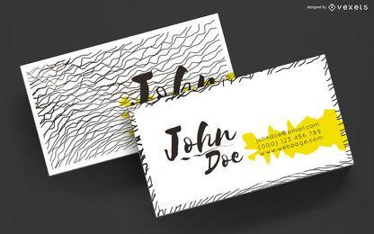 Diseño de líneas onduladas de tarjetas de visita