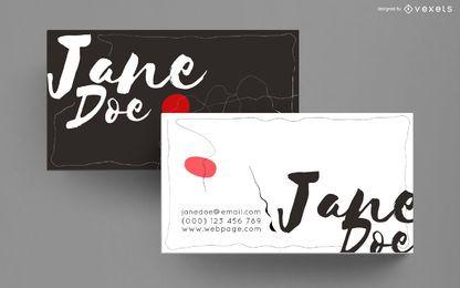 Design artístico de cartão de visita