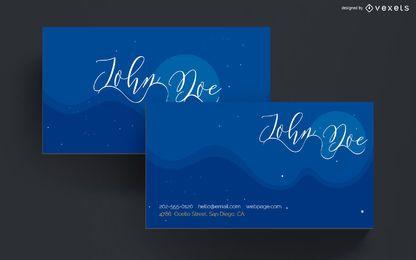 Design de céu noturno de cartão de visita