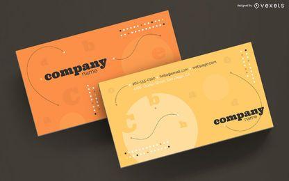 Visitenkarte abstrakte Briefgestaltung