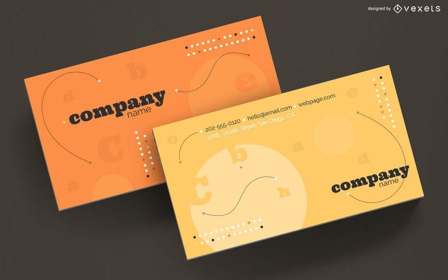 Diseño de letras abstractas de tarjeta de visita