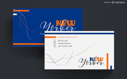Business card colorful abstract design