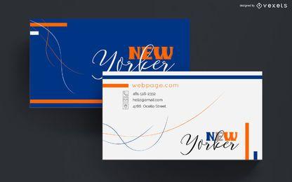 Diseño abstracto colorido tarjeta de visita