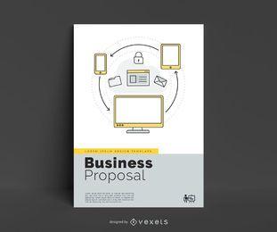 Design de cartaz editável de proposta de negócios