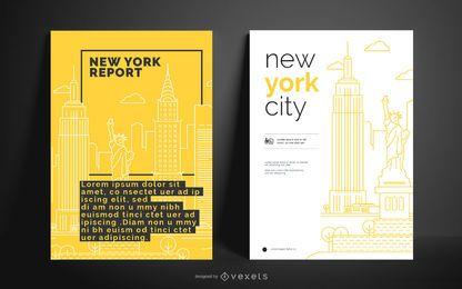 Design de cartazes de negócios da cidade