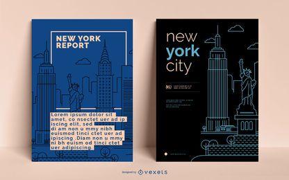 Modelo editável de negócios NYC Poster
