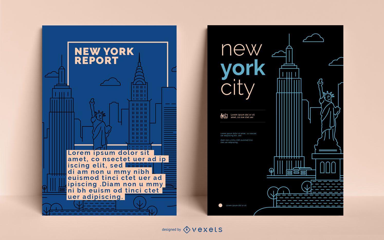 Plantilla editable del cartel de la ciudad de Nueva York
