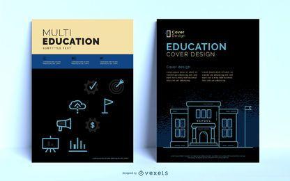 Modelo de Cartaz editável em educação