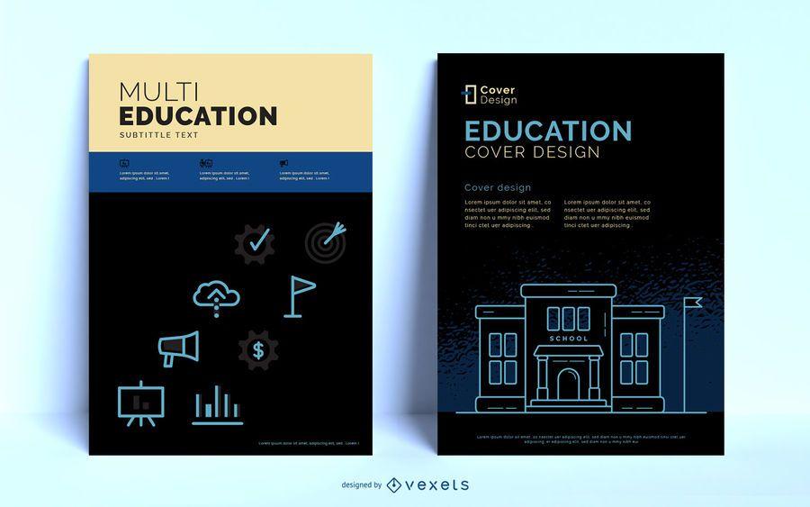 Plantilla de cartel editable de educación