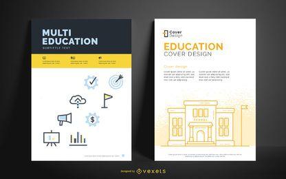 Modelo editável de cartaz de educação